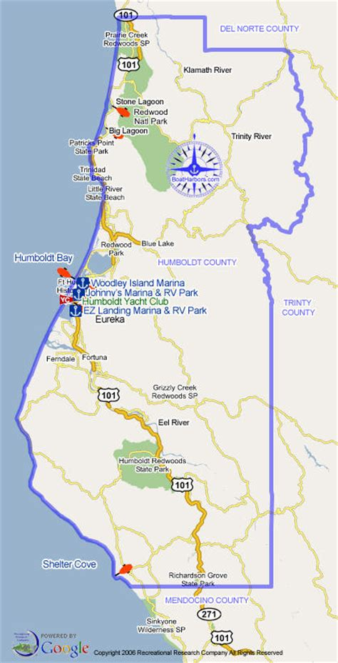Humboldt County Search Humboldt County Marinas