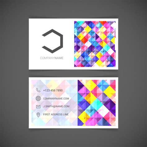 Moderne Mosaik Vorlagen Mosaik Visitenkarte Vektor Vorlage Der Kostenlosen Vektor