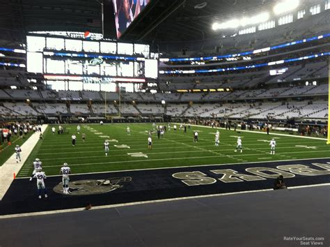 section 8 dallas at t stadium section 150 dallas cowboys rateyourseats com