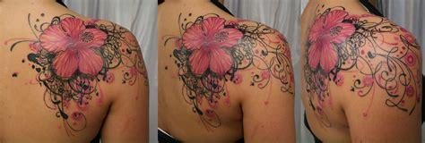 pink flower heart tribal tattoo tattoo art gallery