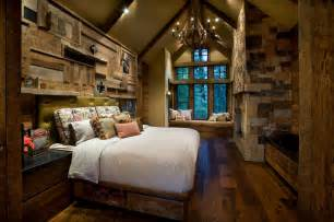 mountain cabin rustic bedroom by imi