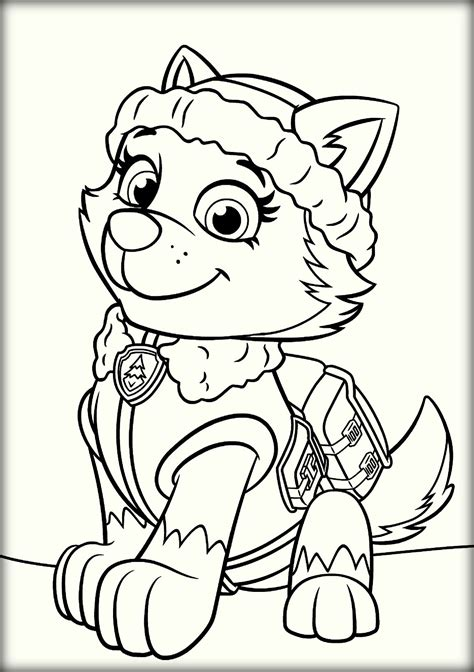 sky paw patrol coloring pages everest coloringstar grig3 org