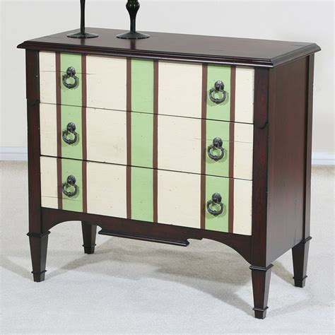 Striped Chest Of Drawers by Painted Chest Of Drawers Green Columns On Striped