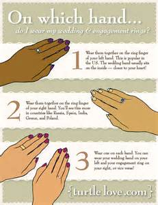wedding rings on 4 options for wearing the engagement ring during the wedding