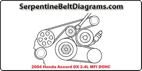 Fan Belt Honda Crv 24 2400cc 2007 2012 Ori 2004 honda accord engine diagram