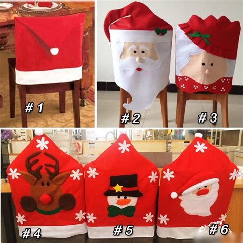 Mrs Santa Claus Chair Covers 1pc mr mrs santa claus chair covers lovely
