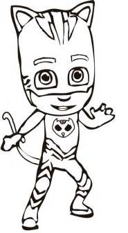 Pj Coloring Pages Masks Sketch Page sketch template