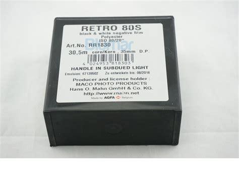 Roll 35mm Rollei Retro 80s 1 bulk roll rollei retro 80s 35mm 30 5 meter 100ft b w
