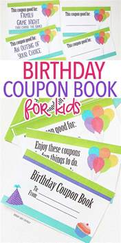 birthday coupon template 25 unique coupon books ideas on free