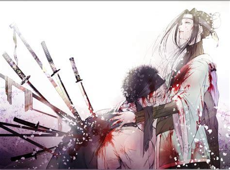 wallpaper naruto zabuza momochi haku swords bandages