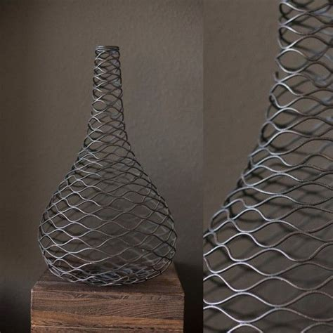 Wire Vase by Industrial Wire Vase
