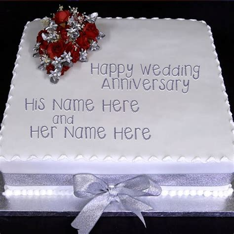 Marriage Anniversary Image For Chacha And Chachi by Wedding Anniversary Cake With Name