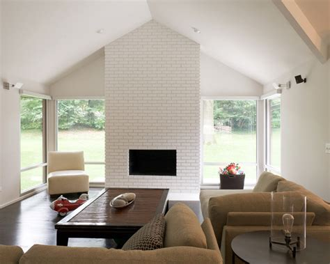 Mid Century Modern Fireplace by Modern W A Side Of Ranch Midcentury Living Room