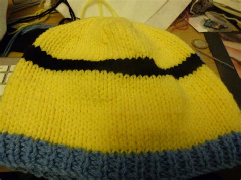 yellow hat pattern adult minion hat knitting pattern pitter patter tiny
