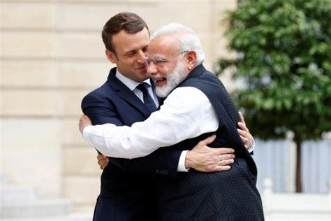 emmanuel macron modi modi in france pm meets president macron vows to