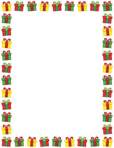 printable xmas borders printable christmas present border free gif jpg pdf