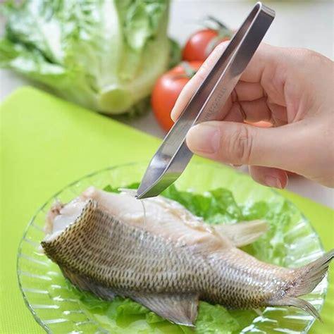 Terlaris Sale Strainer Stainless Steel Besar 11 5 X 21cm 74 shun fish bone tweezers pinset untuk tulang ikan dapurnesia
