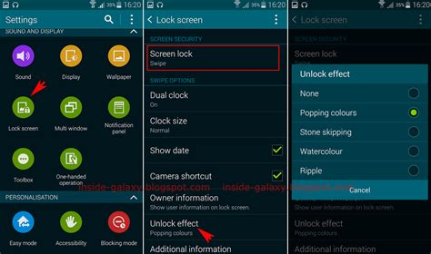 how to change lock screen android samsung galaxy s5 how to change lock screen effect in android 4 4 2 kitkat
