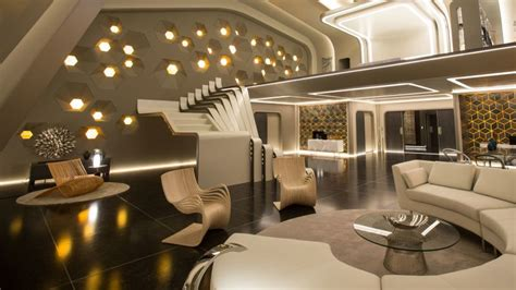 Futuristic Living Room by Watch Inside The Most Luxurious Set In Passengers