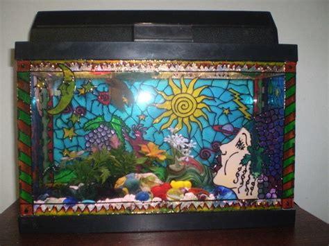 painted fishtanks  aquarium tank art decorating