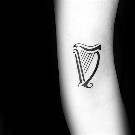 celtic harp tattoo www pixshark com images galleries