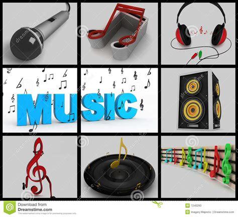 imagenes musicales con niños collage de notas musicales y de equipos musicales fotos de
