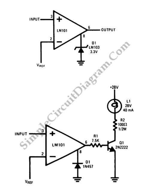 diode comparator circuit op application voltage comparators simple circuit diagram