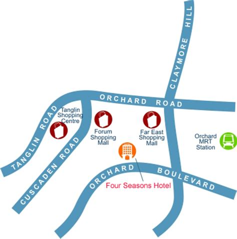 Four Seasons Hotel Map, Singapore