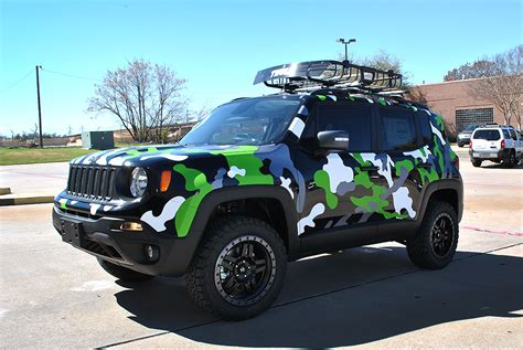 camo jeep jeep renegade custom camo wrap car wrap city