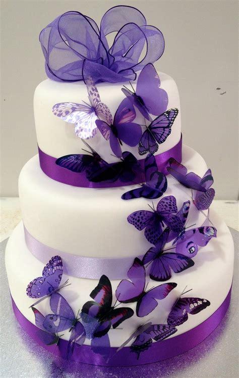 Hochzeitstorte Lila by Purple Butterflies Wedding Cake Ipunya
