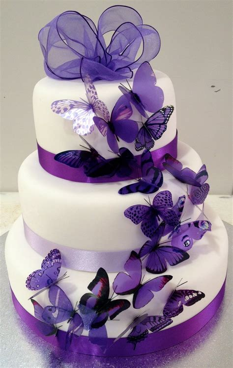 Butterfly Wedding Cakes   Onweddingideas.com