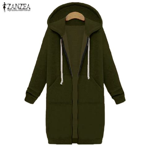 zanzea winter coats 2017 sweatshirts coat casual pockets zipper outerwear hoodies jacket