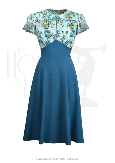 1940s Day Dresses Tea Dresses