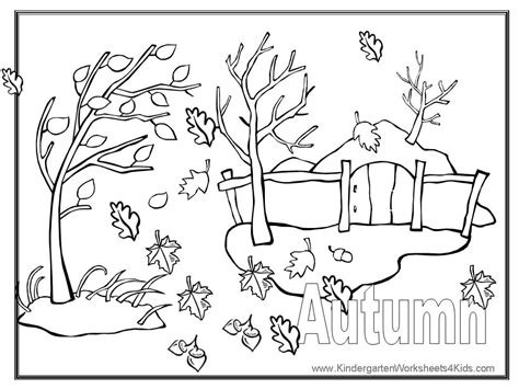 Autumn Coloring Pages Fall Coloring Pages