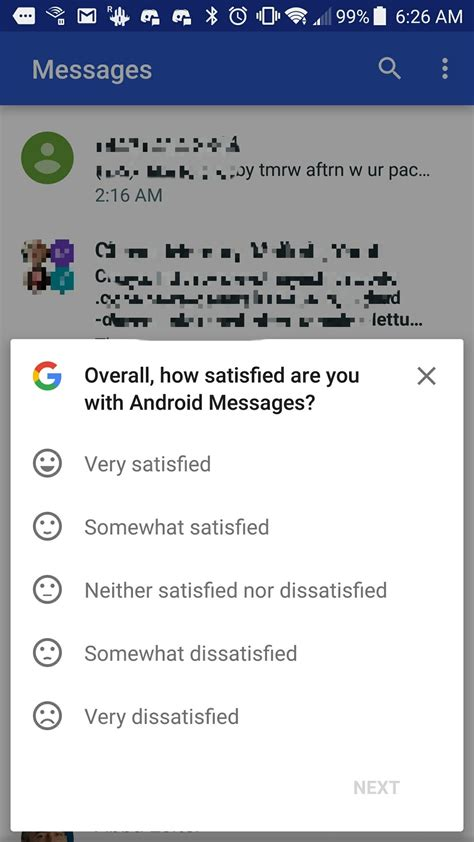 android message not downloaded is also running customer surveys inside android messages and not just on pixels the