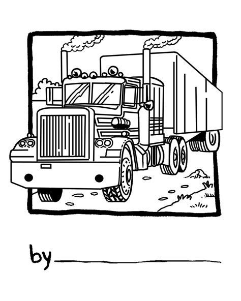 Free Coloring Pages Of Kenworth Semi Trucks Semi Truck Coloring Pages
