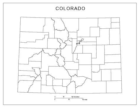 Colorado Map Outline by Colorado Blank Map