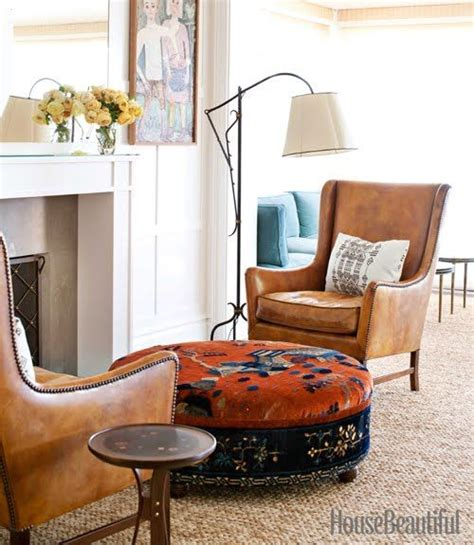 cognac leather chair and ottoman is cognac leather furniture as neutral as denim yay or