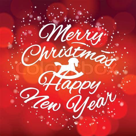 merry christmas  happy  year design card vector eps illustration stock vector