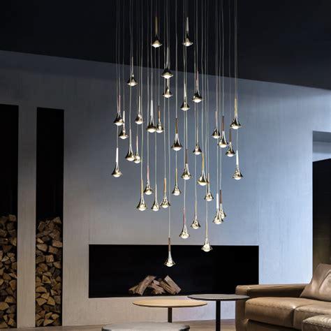Cool Light Fixtures studio italia design rain cluster 14 lights round pendant