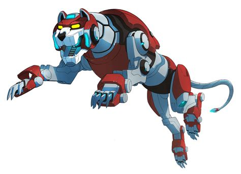image official red lion leaping pose png voltron