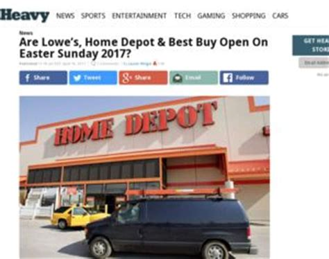 are lowe s home depot best buy open on easter sunday