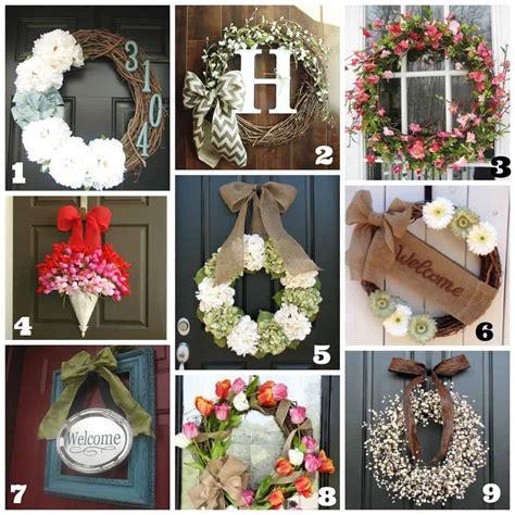 diy front door wreaths springsummer life