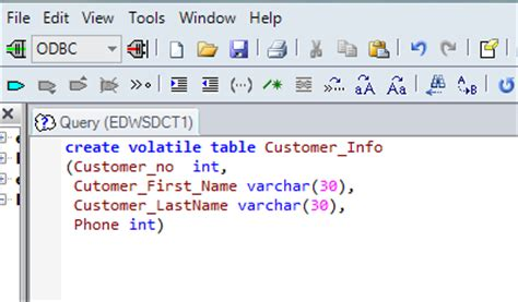 teradata create table as around my world insert data from excel to terdata table