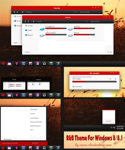 pc themes yilong red b theme for windows 8 8 1 upload by cleodesktop on