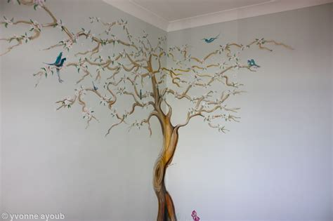 Wall Mural For Bedroom finished apple blossom tree mural acrylics