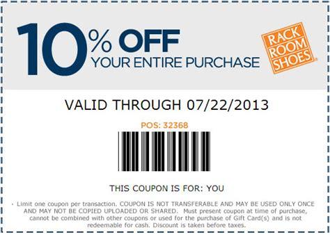 rack room shoes 10 printable coupon