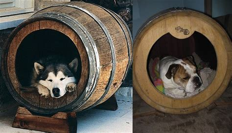 whiskey barrel dog house mansions and fine art made especially for cats and dogs