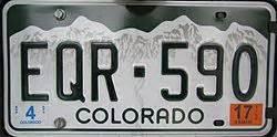 colorado license plates colors vehicle registration plates of colorado
