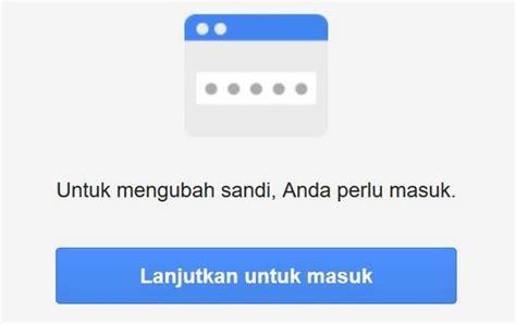 ganti password gmail kata sandi akun google